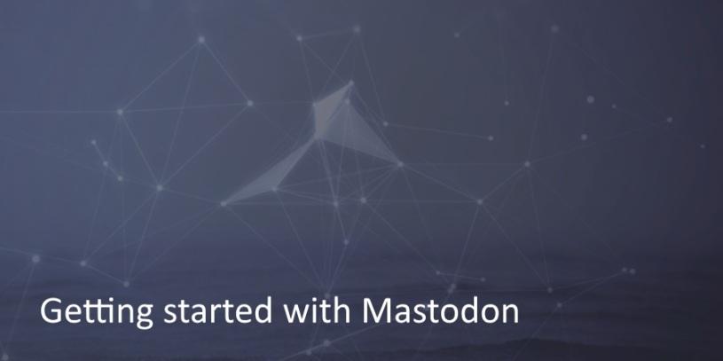 Getting started with Mastodon! – Wogan's Blog
