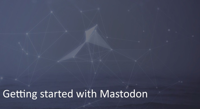Getting started with Mastodon!